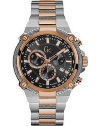 Gc - Y24002g2 Cableforce Stainless Steel Chronograph Watch - Lyst