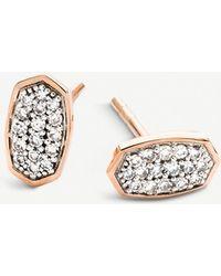 Kendra Scott - Gypsy Diamond Stud Earrings In 14k Yellow Gold Or 14k White Gold - Lyst