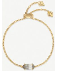 Kendra Scott - Everlyne 14ct Gold-plated And Cats Eye Bracelet - Lyst