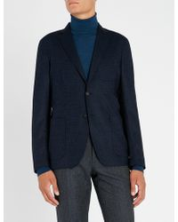 Slowear - Herringbone-weave Regular-fit Wool-blend Jacket - Lyst