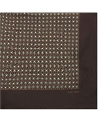 Tom Ford - Circular Dot Print Silk Pocket Square - Lyst