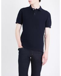 Tom Ford - Logo-embroidered Cotton-piqué Polo Shirt - Lyst