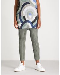 Pleats Please Issey Miyake - Thicker Skinny Cropped Pleated Trousers - Lyst