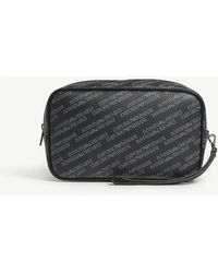 bc8f33c854b7 Lyst - Emporio Armani Logo Print Messenger Bag in Black for Men