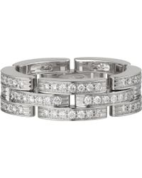 Cartier - Maillon Panthère 18ct White-gold And Diamond Ring - Lyst