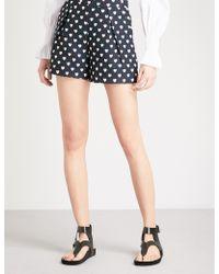 Claudie Pierlot - Heart-print Woven Shorts - Lyst