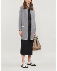 The White Company Weave-stitch Cotton-blend Coatigan - Gray