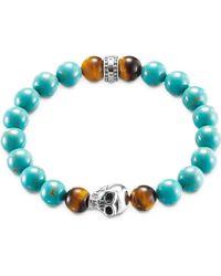 Thomas Sabo - Rebel At Heart Turquoise Skull Bracelet - Lyst