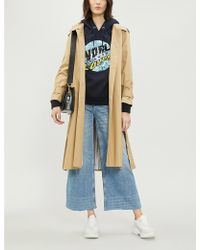 Sandro - Victorine Belted Cotton Coat - Lyst