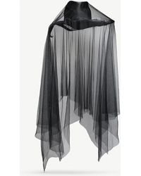 Ann Demeulemeester - Ripped Silk-tulle And Straw Hat - Lyst