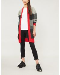 Pinko - Trainer Striped Mohair-blend Cardigan - Lyst