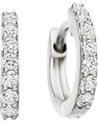 Astley Clarke - Mini Halo 14ct White-gold Diamond Hoop Earrings - Lyst