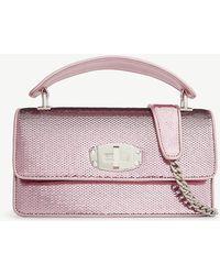 08ac2830673c Miu Miu Miu Metallic Pink Crystal-embellished Matelassé Leather ...