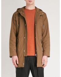 The Kooples | Hooded Cotton-gabardine Parka Coat | Lyst