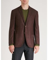 Corneliani - Academy-fit Wool And Silk-blend Jacket - Lyst