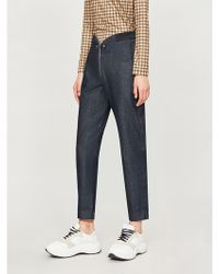 Closed - X Girbaud Curved Waistband Tapered High-rise Jeans - Lyst