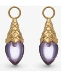 Annoushka - 18ct Yellow Gold And Amethyst Pendants - Lyst