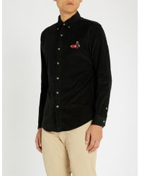 Polo Ralph Lauren - Bear-embroidered Slim-fit Corduroy Shirt - Lyst