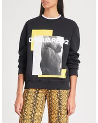 DSquared² - Graphic-print Cotton-jersey Jumper - Lyst