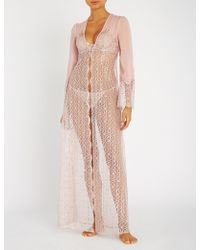 Myla - Rosemoor Street Metallic Lurex-lace Robe - Lyst