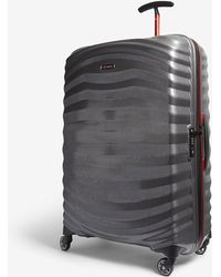Samsonite - Eclipse Grey And Red Stripe Lite Shock Sport Hardshell Spinner Suitcase - Lyst