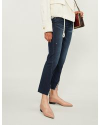 PAIGE - Skyline Cropped Mid-rise Slim-fit Jeans - Lyst