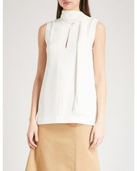 JOSEPH - Ladies Ecru White Noon Cady Top - Lyst