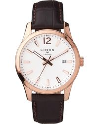 Links of London - Greenwich Noon Leather Watch - Lyst