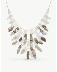 Kendra Scott - Shell And Acrylic Silver-plated Brass Patricia Necklace - Lyst