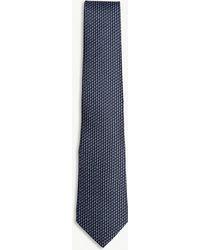 Lanvin - Chevron Silk Tie - Lyst