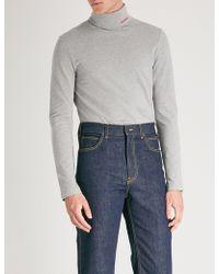CALVIN KLEIN 205W39NYC - Turtleneck Cotton-jersey Jumper - Lyst