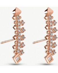 Kendra Scott - Indie 14ct Rose-gold Earrings - Lyst