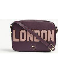 Kurt Geiger - Richmond London Saffiano Leather Cross-body Bag - Lyst