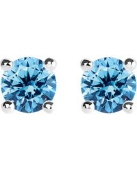 Thomas Sabo - Glam And Soul Blue Stone Large Sterling Silver Earrings - Lyst