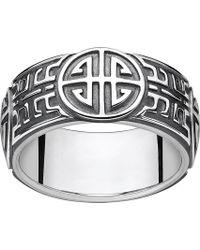 Thomas Sabo - Rebel At Heart Blackened Sterling Silver Ring - Lyst