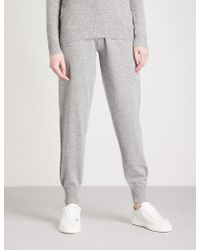 Theory - Loun Tapered High-rise Cashmere Jogging Bottoms - Lyst