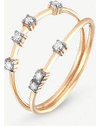 The Alkemistry - Kismet By Milka Line 14ct Rose-gold And Diamond Ring - Lyst
