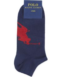 Polo Ralph Lauren - Big Pony Trainer Socks Pack Of Three - Lyst
