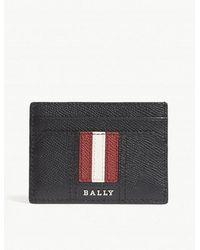 Bally - Thar Grained Leather Card Holder - Lyst
