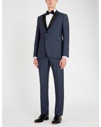 Emporio Armani - Satin-trimmed Wool And Mohair-blend Tuxedo - Lyst
