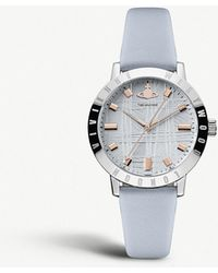 Vivienne Westwood - Vv152blbl Bloomsbury Stainless Steel And Leather Strap Watch - Lyst