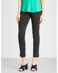 Ba&sh - Ssally Embellished Slim-fit Straight Jeans - Lyst