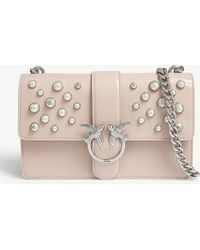Pinko - Love Leather Pearls - Lyst