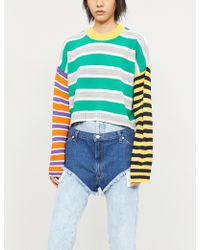 The Ragged Priest - Outsider Striped Knitted Jumper - Lyst