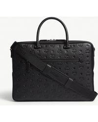 MCM - Ottomar Monogram Leather Briefcase - Lyst
