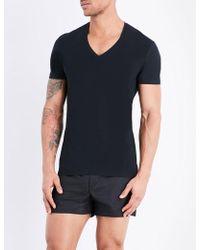La Perla - Seamless V-neck T-shirt - Lyst