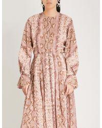 Emilia Wickstead - Dalia Python-print Silk Shirt - Lyst