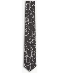 Givenchy | Calligraphy Print Silk Tie | Lyst