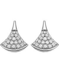 BVLGARI - Divas' Dream 18kt White-gold And Diamond Earrings - Lyst