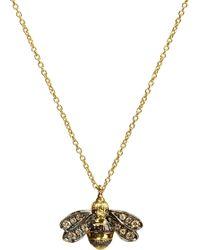 Annoushka - Love Diamonds 18ct Gold Diamond Bee Necklace - Lyst